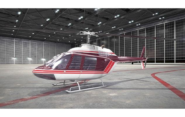 红色直升机