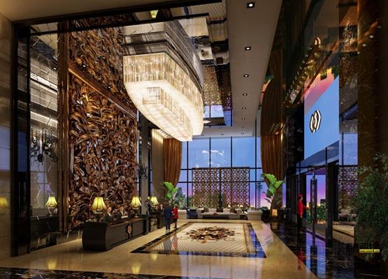 新中式酒店前台