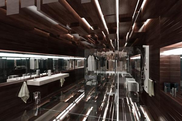工业风酒店卫生间