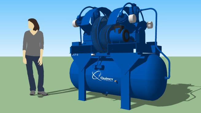 空压机昆西QRDT-10 桶 潜水员 机器 飞机 热气球