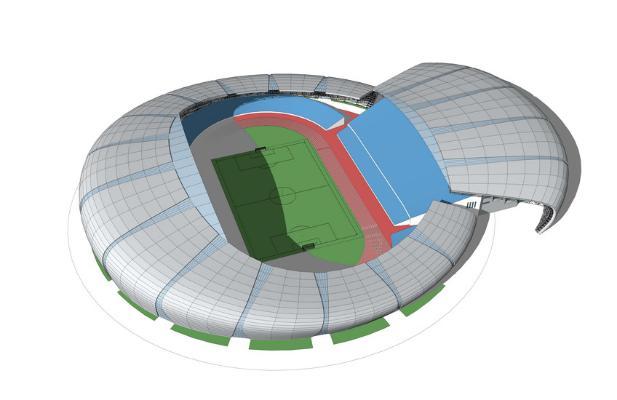 足球场SU模型