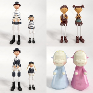 人物玩偶饰品摆件组合 现代玩具 人物玩偶 儿童房饰品摆件