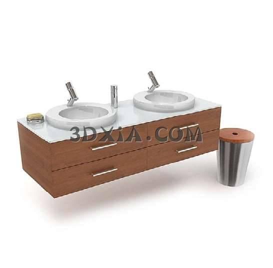 3D简约的洗手台模型下载