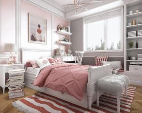北欧女儿房卧室3D模型