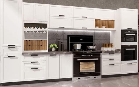 现代实木橱柜3d模型
