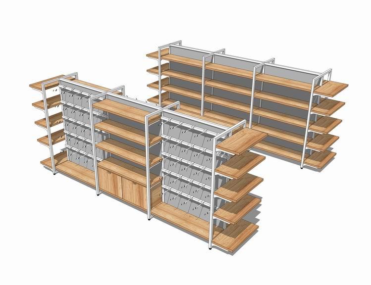 超市货架SU模型