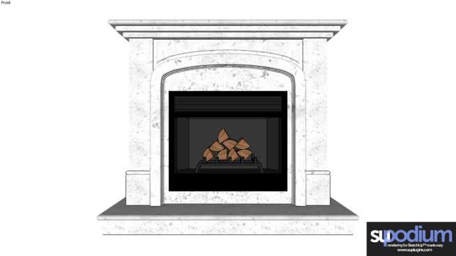 裙房浏览器壁炉03 壁炉 火炉