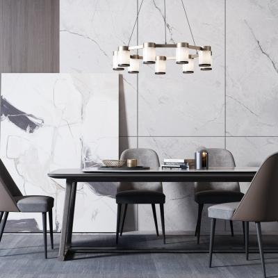 现代六人餐桌椅3D模型