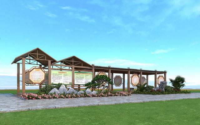 新中式长廊3D模型