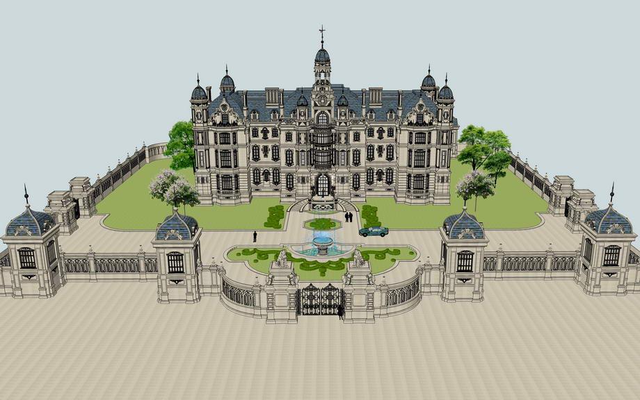 法式大庄园SU模型
