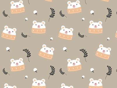 熊猫树叶动物植物儿童房床单壁纸墙纸底纹纹理