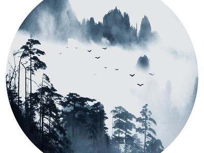 新中式壁纸壁画装饰画