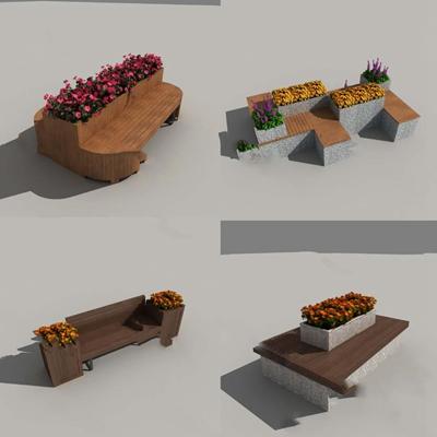 现代户外椅3D模型