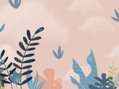 简约植物背景墙