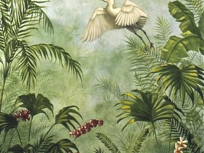 艺术墙绘风景植物