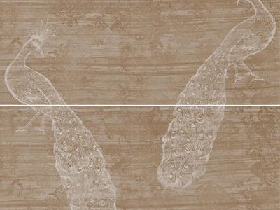 石材拼花 孔雀纹理石材