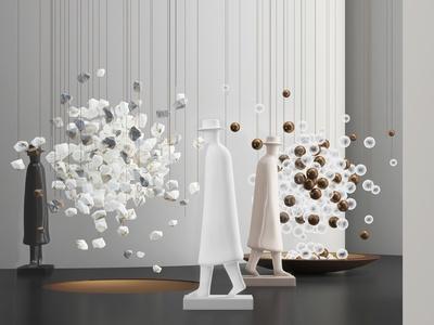 现代雕塑 球形吊饰 摆件