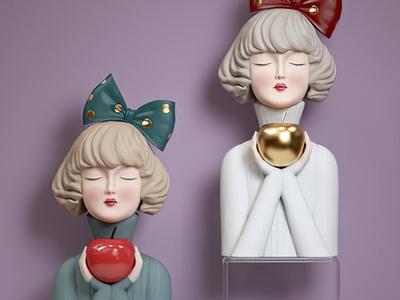 扉页现代雕塑 摆件 装饰品