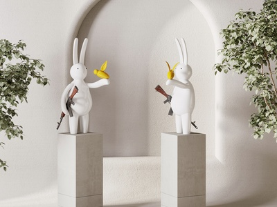 現代雕塑擺件