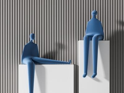现代人物雕塑 饰品摆件