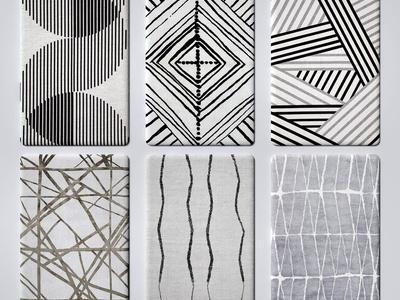 现代地毯 布艺地毯 纹理地毯