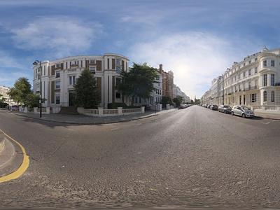 HDR城市街道天空贴图
