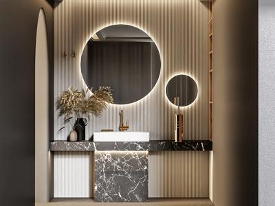 现代卫生间 洗手台