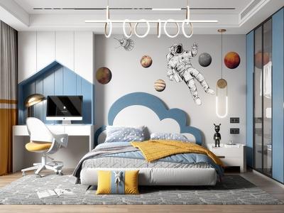 現代兒童房 臥室