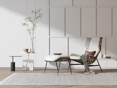 现代休闲椅 茶几组合