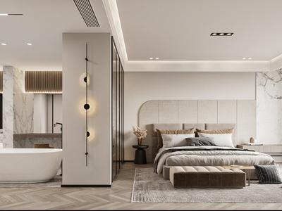 现代卧室 卫生间 挂件 浴室