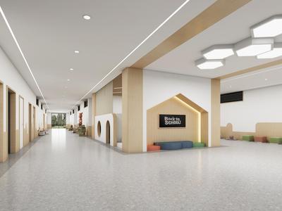 幼儿园室内装修设计方案舞蹈室兴趣班科学发现室手工乐高班活动室寝室DIY门厅 施工图 效果图 概念方案