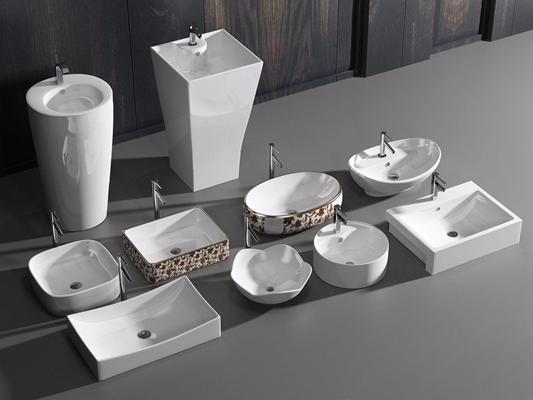 洗手盆合集 现代卫浴用品 洗手盆 台盆