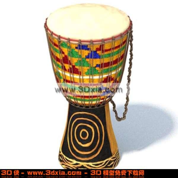 3D少數民族的獨鼓子模型