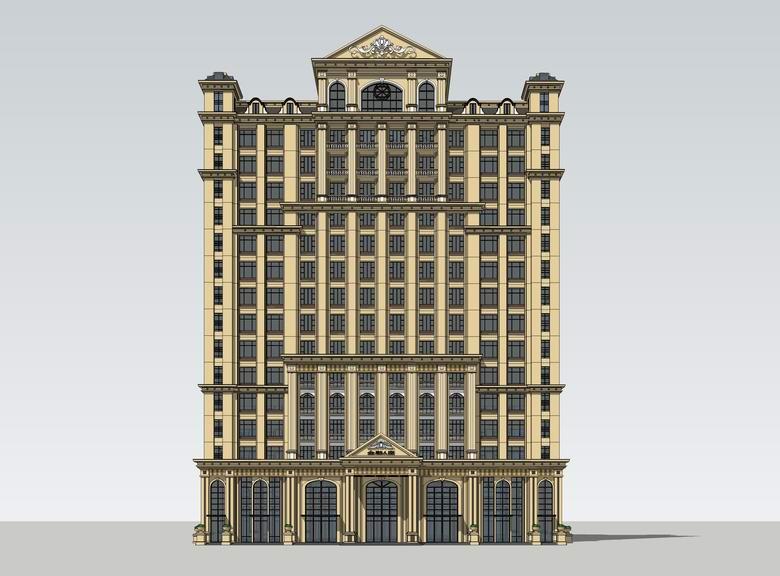 欧式酒店SU模型