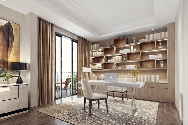 现代书房空间3D模型【ID:16868976】