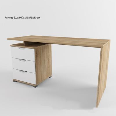 现代工艺都市简约原木办公桌5欧式 原木 玻璃 简约 创意 桌子 办公桌 写字台 抽屉