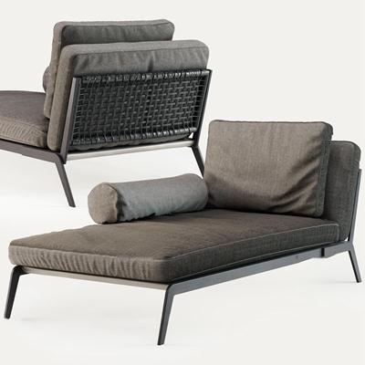 现代布艺贵妃椅3D模型