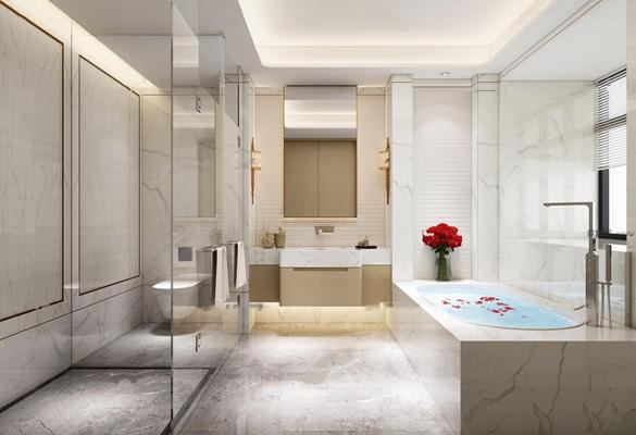 现代卫浴空间3D模型【ID:16974069】