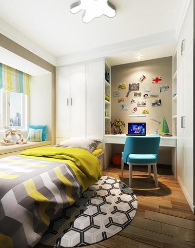 现代榻榻米卧室儿童房3D模型