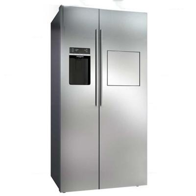 现代双开门冰箱3D模型