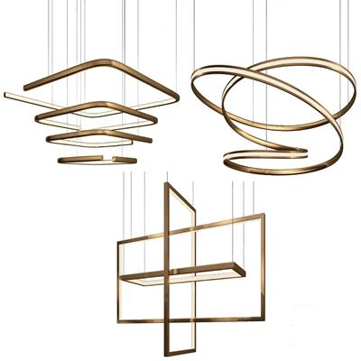 现代金属吊灯组合 现代吊灯 金属吊灯