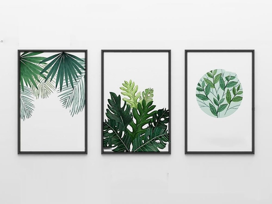 北欧绿植装饰画3D模型