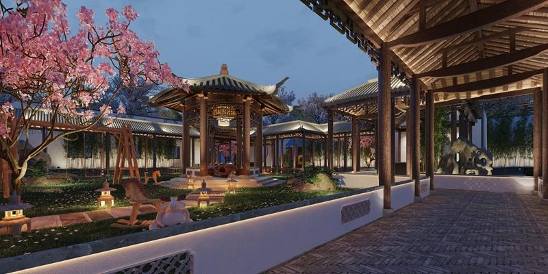 中式庭院园林景观