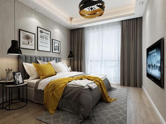 �F代�P嗯室�p人床3D模型