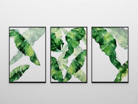 北欧植物框画3D模型