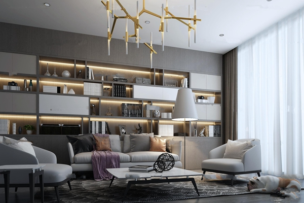 现代沙发装饰柜3D模型