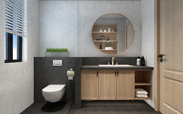 现代卫生间卫浴柜架组合3D模型