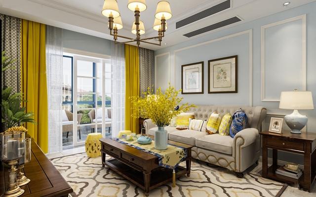美式客厅沙发组合3D模型