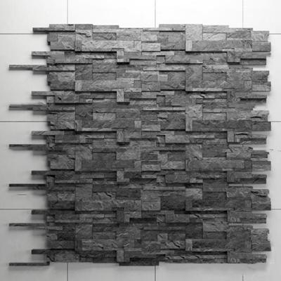 现代石材背景墙3D模型