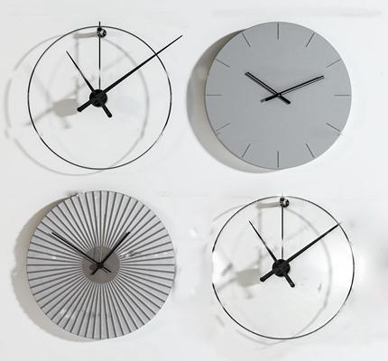 现代装饰挂钟组合3D模型